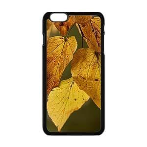 Autumn Leaves Black Phone Case for Iphone6 plus