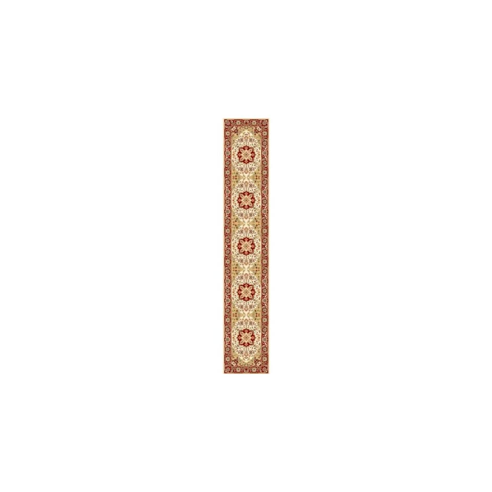 Safavieh Lyndhurst Collection LNH330A Traditional Oriental Medallion Ivory and Red Runner (23 x 22)