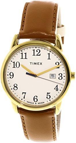 - Timex Women's Easy Reader TW2R62700 Gold Leather Analog Quartz Dress Watch
