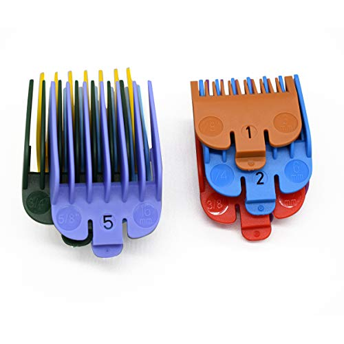 ZEROKIWI Professional Hair Clipper Guide Combs, 8 Packs Cutting Guide Combs, 8 Lengths 8 Random Color-Assorted Guard Combs Attachment 1/8\