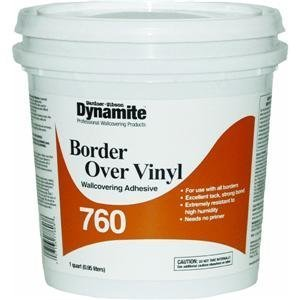 Gardner Gibson 7760-3-16 Dynamite Vinyl Over Vinyl Wallcovering Adhesive, 1 qt