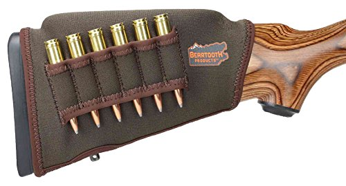 (Beartooth Comb Raising Kit 2.0 - Premium Neoprene Gun Stock Cover + (5) Hi-Density Foam Inserts - Rifle Model (Brown - Left-Handed))