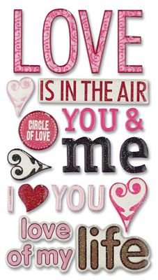 (Sticko Phrase Cafe Epoxy Stickers-Love)