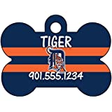 MLB Team Dog Tag Pet Id Tag Personalized w/ Name & Number (Detroit Tigers)