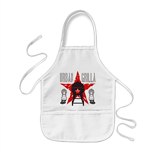 VetiVer Monogrammed Kids Aprons Urban Grilla Bbq Barbecue Chef Cook 1 Personalized Childrens Aprons