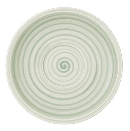 Artesano Nature Vert Tea Cup Saucer Set of 6 by Villeroy & Boch - Premium Porcelain - Made in Germany - Dishwasher and Microwave Safe - 6.25 Inches - Vert Tea Saucer