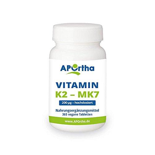 비타민 K2-Menaquinone MK7 200 µ g 높은 복용량-365 채식 캡슐-년 팩