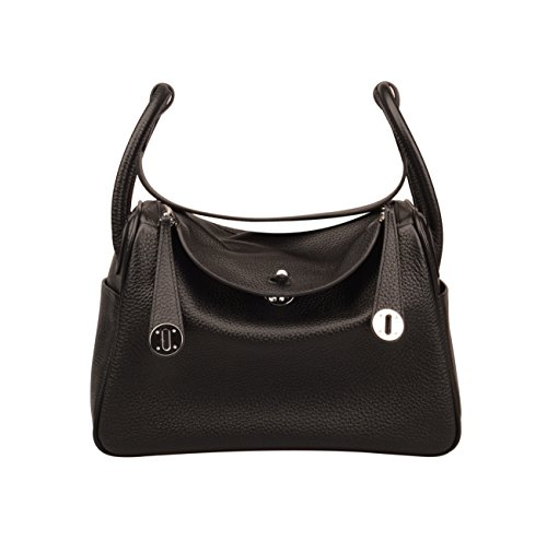 Bag Black Leather Genuine Women's Shoulder Everyday Purse Hobo Ainifeel n76zRwqC