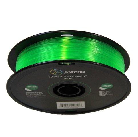- Dimensional Accuracy +//- 0.03mm 2.2 lbs 1kg Spool 1.75mm Trans Green PLA 3D Printer Filament