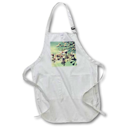 apr_40104_1 Patricia Sanders Flowers - Zen Flowering Tree- Cherry Blossoms- Flowers- Photography - Aprons - Full Length Apron with Pockets 22w x 30l