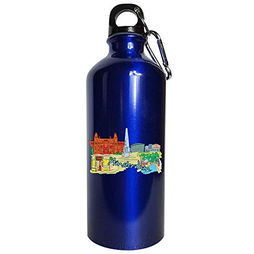 Amsterdam Netherlands - Beautiful Places Around The World - Water Bottle Metallic Blue