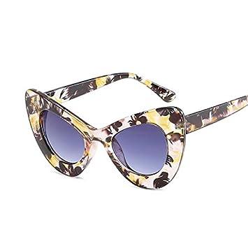 YUHANGH Moda Cat Eye Sunglasses Mujeres Personalidad Gafas ...