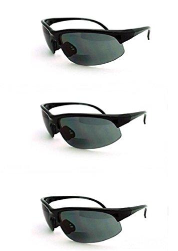 3 Pairs Men and Women Sunglasses with Bifocal Reading Lens Half Rim Sports Fashion - Sunglasses Safety Bifocal Polarized