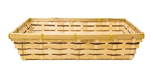 Natural Bamboo File Tray with Fern Strips - 13