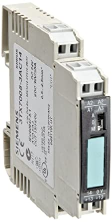 Siemens 3tx7005 3ac14 interface relay narrow design output cage clamp terminal 1 no contact 125mm width 5a max switching current 30vdc switching voltage 05a min load current short circuit proof publicscrutiny Gallery