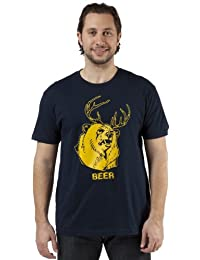 Mac's BEER T-Shirt, X-Large, Navy Blue