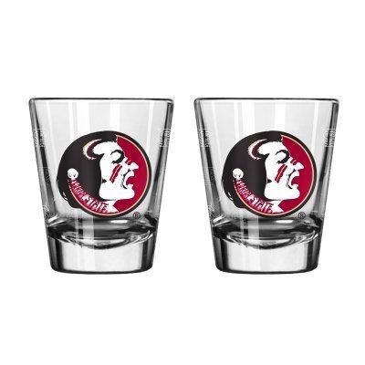 NCAA Florida State 2oz. Shot Glasses   FSU Seminoles Shooters - Set of - Christmas State Florida Seminoles Stocking