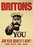 Briton Needs You WW1 Propaganda War A4 poster