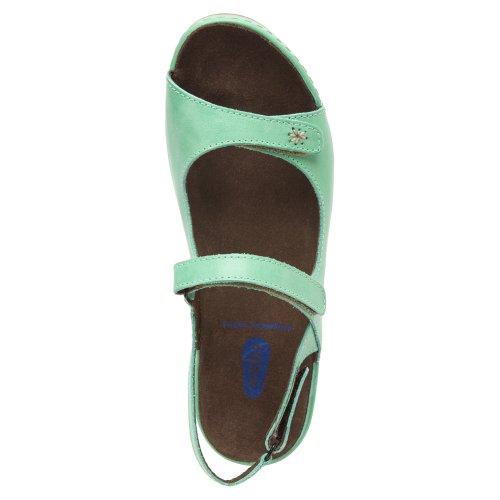 Wolky - Sandalias de vestir para mujer 980 blue metallic leather