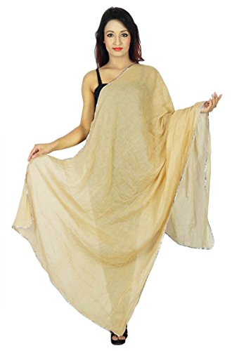 y Longueues plata beige verano de Woman Cotton Bufandas Entourage Dupatta Hijab Wear Chunni en Ready To Indian UwBHZa