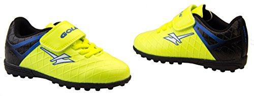 Footwear Studio - Botas de fútbol para niño negro negro Amarillo y Negro