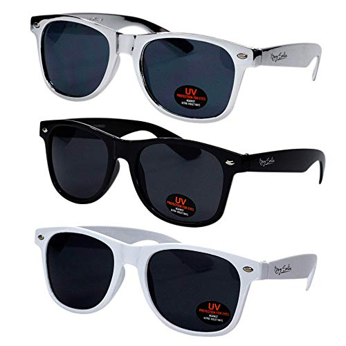 (Sunglasses for Men, Women & Kids by Ray Solée- 3 Pack Black,White &)