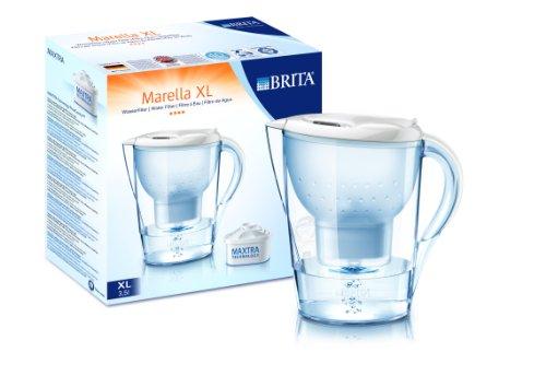 Brita Wasserfilter Marella XL 3,5L + 3 Maxtra Kartuschen weiß