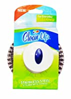Clean Up Stainless Steel Scourer with Handle