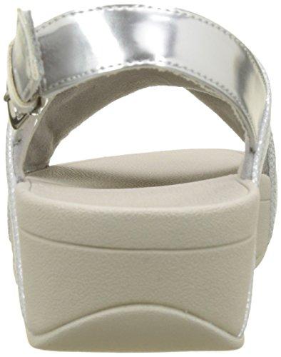 Shimmer Back Shimmer Argenté Cross Fitflop silver Sandals 578 strap Femme Lulu print fqgEz