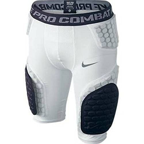 Nike Men's Pro Combat Football Shorts White/Black Medium (Nike Shorts Men Football)