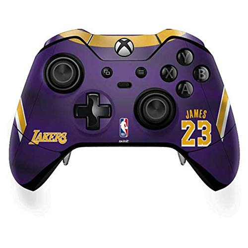Skinit Los Angeles Lakers Xbox One Elite Controller Skin - NBAPI (Players) Skin - Ultra Thin, Lightweight Vinyl Decal Protection