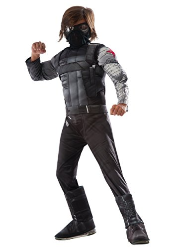 Falcon Costume Marvel (Rubie's Captain America: Civil War Winter Soldier Deluxe Muscle Chest Child, M)