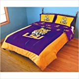 College Covers Louisiana State Tigers Printed Dust Fashions Ruffle, King