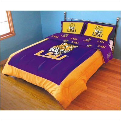 - College Covers Louisiana State Tigers Printed Dust Fashions Ruffle, King