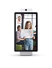 Facebook Portal Plus de Llamadas de vídeo Inteligentes con Manos Libres con Alexa Integrado, Blanco, Blanco, Portal Plus