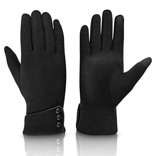 Fashion Touch Screen Winter Gloves Warm Polar Fleece Windproof in Cold Weather For Women (Lady Fleece Glove)