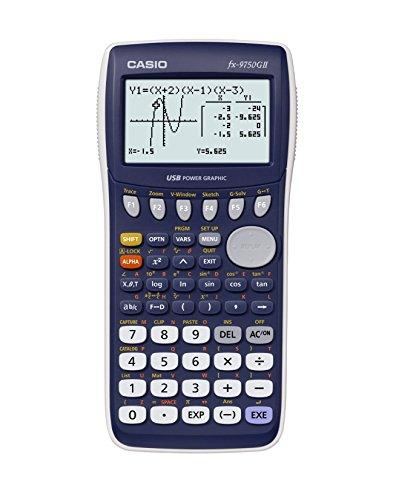Casio fx-9750GII Graphing Calculator, Blue (Renewed)