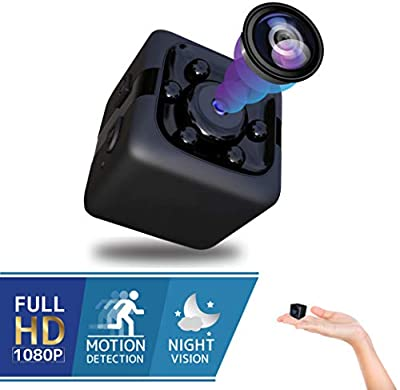 Spy Hidden Mini Cube Camera - Best Digital Small HD Action Cameras Nanny Cam Cop Cam with Night Vision and Motion Detection, Indoor Outdoor Portable Camera for Car, Drone, Office, Camaras para Casas by HIGHMEX