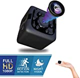 Spy Hidden Mini Cube Camera - Best Digital Small HD Action Cameras Nanny Cam Cop Cam with Night Vision and Motion Detection, Indoor Outdoor Portable Camera for Car, Drone, Office, Camaras para Casas
