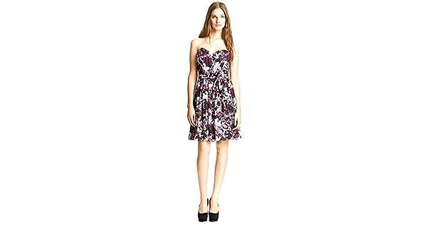 7a14227a5bdb McGinn Women s Iris Floral Print Deep Plum Summer Dress Size 10 at Amazon  Women s Clothing store