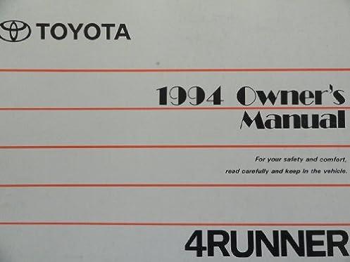 1994 toyota 4runner 4 runner owners manual amazon com books rh amazon com 1994 toyota 4runner owners manual pdf 94 Toyota 4Runner Interior