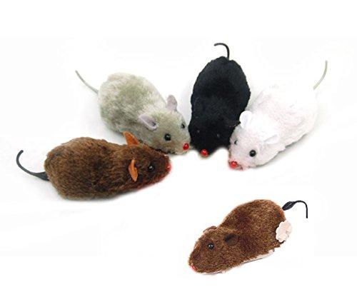 Fireboomoon 5 Pack Wind Up Racing Mice-Realistic Looking Mice 4-1/2