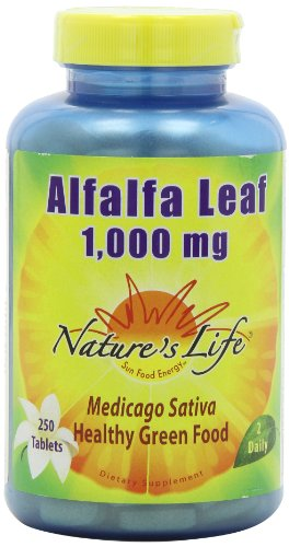 Nature's Life Alfalfa Leaf Tablets, 1000Mg, 250 Count