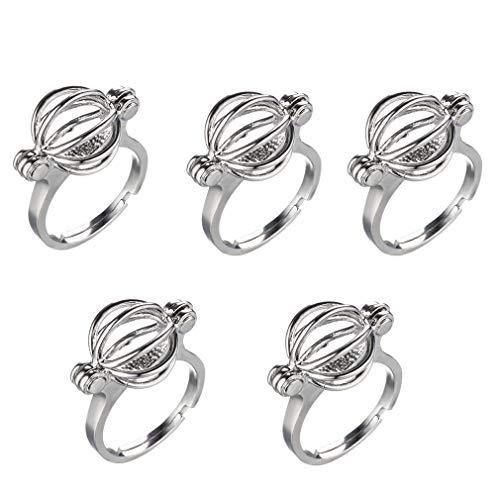 le Hollow Locket Ring Settings Adjustable Pearl Cage Rings Mountings (Vintage Ring Mounting)