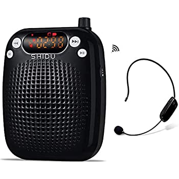 wireless voice amplifier portable pa system speaker with uhf wireless microphone. Black Bedroom Furniture Sets. Home Design Ideas