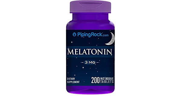 Amazon.com: Melatonin 3 mg 200 Fast Dissolve Tablets by Piping Rock Health Products: Health & Personal Care