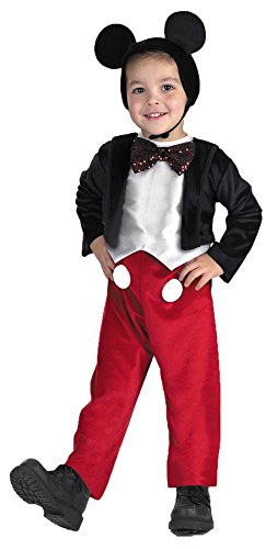 Morris Costumes Boy's MICKEY MOUSE DELUXE 3T-4T (Mickey Mouse Costume Rental For Adults)