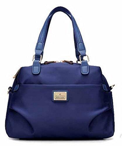 VogueZone009 Mujeres Trabajo Cremalleras Bolsas de Mano Casual Bolsos Cruzados,CCAYBP180766 Azul
