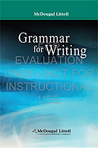 Grammar for Writing (McDougal Littell Literature)