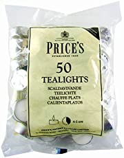 Prices Patent Candles Pack of 50 White Tealights Bag